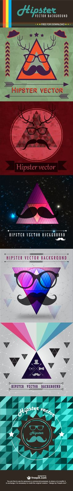 fun freebies hipster vector backgrounds from freepik download illustrated hipster backgrounds
