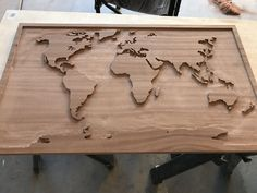 Work in progress gift for my wife based off a post I saw here several months ago. All done manually with a router. Any advice on how to sand the tight spots? http://ift.tt/2FzMcWR