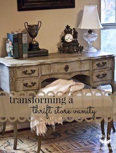thrift store vanity redo