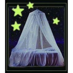 Kids White Bed Canopy Bedroom Decor Mosquito Net Glow In The Dark Star Design Kids Bed Canopy, Canopy Bedroom, Canopy Tent, Girls Bedroom, Bedroom Decor, Bedroom Ideas, Office Canopy, Bed Canopies, Teen Boys