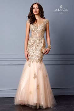 I just LOVE this! Lace Mermaid Evening Gown 5706. at Simple Elegance