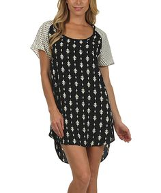 Look at this #zulilyfind! Le Lis Collection Black & White Diamond Hi-Low Dress by Le Lis Collection #zulilyfinds