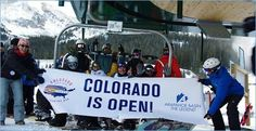 """Colorado is Open! Arapahoe Basin, also known as """"A-Basin"""", in Summit County, Colorado has one of the longest ski and ride seasons in North America. Ski from mid-October through late spring, """"June"""". With over 350"""" of annual snowfall, it's easy to experience skiing, snowboarding and telemarking on some of Colorado's best ski terrain. A-Basin is now open for the season!"""
