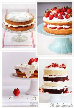 Sponge Cake / Non Iced Cake Inspiration (3). Read More - http://onefabday.com/sponge-wedding-cake/