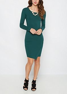 082f4d02ff3 Asymmetrical Knit Bodycon Dress Rue 21 Dresses