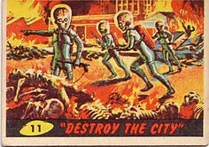 Mars Attacks! trading card, 1962