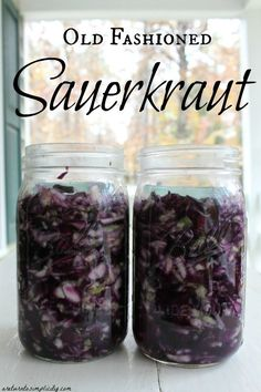 Need a way to preserve your fall bounty of cabbage? Here is our simple, old fashioned sauerkraut recipe. | areturntosimplicity.com