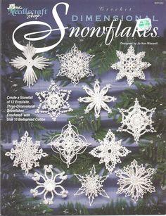 Crochet Dimensional Snowflakes Pattern Leaflet  12 Exquisite designs  By: Jo Ann…