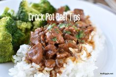 Here's a super easy...super delicious recipe perfect for Sunday dinner, or any day really. Easy Crock Pot Beef Tips. Make it this week!
