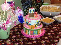 Owl first birthday cake!