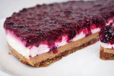 s chia semínky Perfect Cheesecake Recipe, Vegan Cheesecake, Vegan Cake, Cheesecake Recipes, Healthy Cake, Healthy Sweets, Healthy Baking, Raw Food Recipes, Sweet Recipes