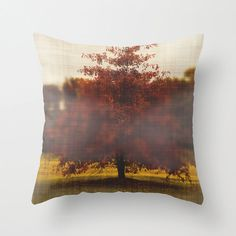 Seasonal Red Home Decor Throw Pillow Cover Fall by bellesandghosts