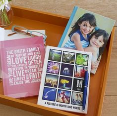 Personalize a journal at Shutterfly for quick notes and inspirational thoughts. We love this custom gift idea.