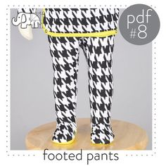 Newborn pants pattern, footed leggings...Preemie to 3T  Instant download -Pattern 8