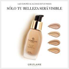 """¿Verte en el espejo y pensar """"Wow, tengo una piel increíble""""? Sí, es posible con la nueva base Giordani Invisible que mantiene tu piel hidratada por horas, evitando realzar líneas finas y esa sensación de piel seca. ¡Haz la prueba! #Base #GiordaniGold #makeup #OriflameMX"""