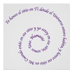 Meaning of Namaste' en Español Poster