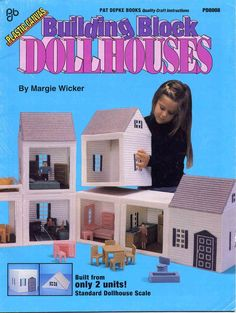 Building Block Dollhouses In Plastic Canvas Including Doll Family And Furniture