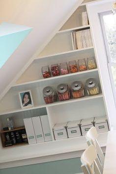 I love the fishbowl storage idea!