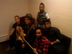 Life on Mars: Bruno Mars took a picture with his band backstage before a fashion show.