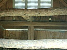Perches for chickens via Spring Fever is Here!!! Repurposed Doghouse into a Chicken Coop!