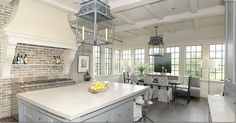 Kitchen ~ by Bobby McAlpine, drooling my dream kitchen!