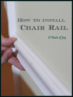 DIY Basics: Chair Rails | The DIY Adventures - upcycling, recycling and DIY from around the world