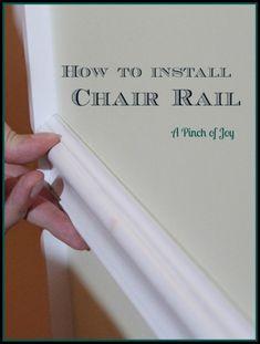 DIY Basics: Chair Ra