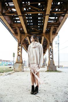 Acne sweater + Alexander Wang dress
