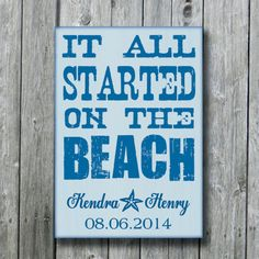 Personalized Beach Wedding SignNautical by doudouswooddesign, $40.00