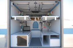 Inside vehicles Rescue Vehicles, Ambulance, Land Cruiser, Clinic, Military, Cabinet, Storage, Design, Home Decor