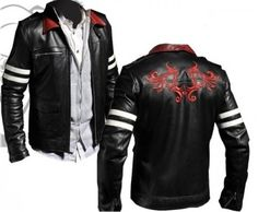 $189.00 - Alex Mercer Prototype Leather Jacket I'm pinning this for the design on the jacket. I think it would be a wonderful tattoo design. I plan on getting this on my shoulder blades.