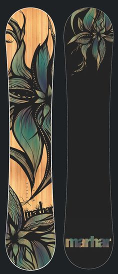 BLOOM [Park Oriented, Groomer Ripping Princess] For the lady that enjoys a super playful, flex and responsive deck. The rocker profile combined with a super soft, buttery flex makes this great for beginners as well as the advanced rider. Carbon, Attack Arc and a soft flex pattern create wild amounts of pop and responsiveness for all your freestyle needs. Don't be confused as this park ripper can tear up groomers as well. #snowboard #snowboarding #graphic #style #design #flower #womens