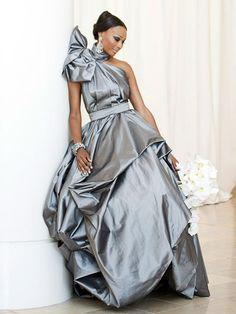 Cynthia Bailey in a Gunmetal Gown by Rubin Singe