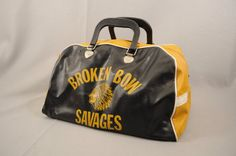 broken bow savages vintage vinyl gym bag Savages 98c6b345ba
