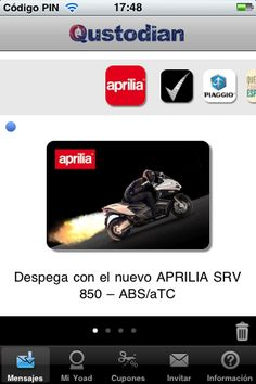 Prueba el nuevo Aprilia SRV 850 #Aprilia #Mindshare #MarketingMovil http://blog.es.qustodian.com/?p=3927