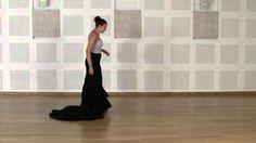 Técnica avanzada de bata de cola flamenca: Cogida #1