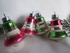 Vintage 1950's Striped Mercury Glass Bell by AuntSuesVintage, $12.99