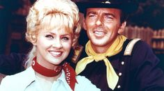 """Melody Patteron, star of F Troop dies at 66. Melody Patterson with Ken Berry on the set of """"F Troop."""""""