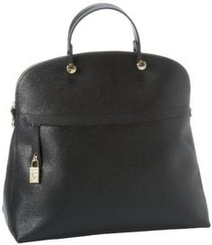 Furla Piper M Bugatti C-Tracolla Shoulder Bag,Onyx,One Size FURLA. $498.00
