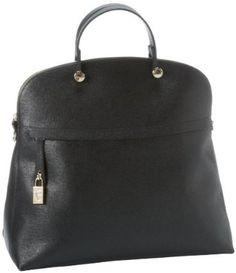 Furla Piper M Bugatti C-Tracolla Shoulder Bag,Onyx,One Size FURLA. $498.00