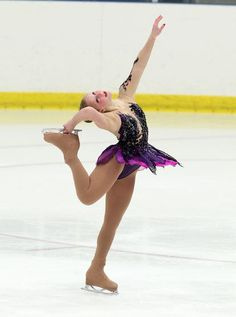 Thursday at U.S. Challenge Skate 2014, Taylor Morris, Black Figure Skating / Ice Skating dress inspiration for Sk8 Gr8 Designs