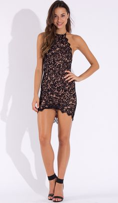 No Reasons Lace Bodycon Dress in Black $49.99 Click>http://www.popcherry.com.au/new-arrivals/