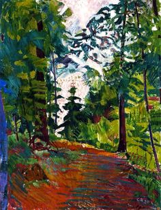 A Clearing in the Woods near Trimbach - Cuno Amiet - 1920