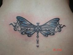 dragonfly neck tattoos | Tribal Dragonfly Tattoo