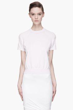 T by Alexander Wang pale lavender sheer back knit T-shirt | reg $195, sale $58  | size M