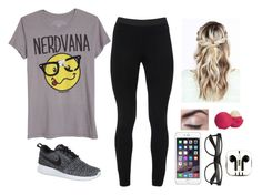 """""""feeling a little bit lazy"""" by brynlieboo ❤ liked on Polyvore featuring Peace of Cloth, NIKE, Eos and PhunkeeTree"""