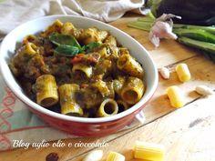 PASTA+CON+MELANZANE+E+PESTO+DI+BIETOLE http://blog.giallozafferano.it/rocococo/pasta-con-melanzane-e-pesto-di-bietole/