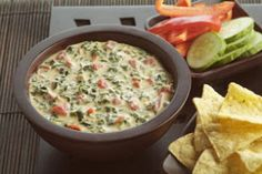 Jose Pepper's knockoff espinaca dip. It makes a ton of this dip! If it is like the real Jose Pepper's  I could eat it with a straw! LOL