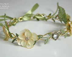 Boho headpiece mauve flower crown medieval circlet hair