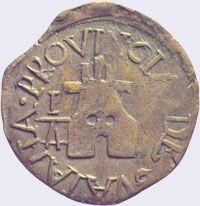 Pieza mpg0.25r-aa01 (Reverso). Moneda de la Provincia de Guayana. 1/4 Real. Diseño A, Tipo A. Fecha 1813
